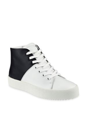 Dylan Colorblock Leather High-Top Sneakers