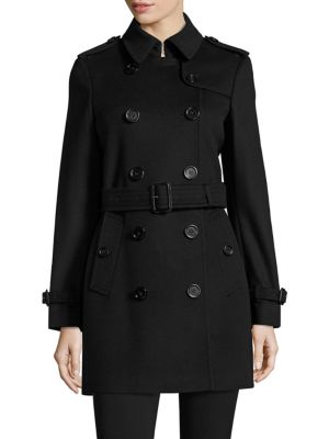 Kensington Wool & Cashmere Double-Breasted Trench Coat
