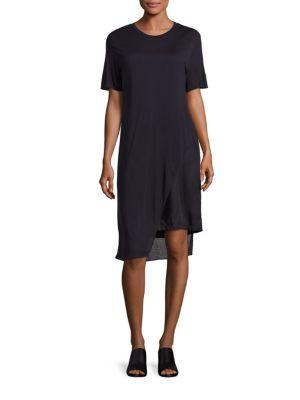 Kisa Cotton Jersey Asymmetrical Dress