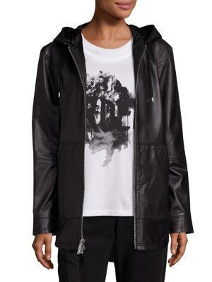 Rin Leather Hoodie