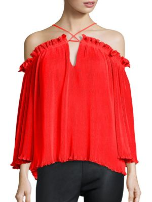 What Do You Mean Elasticized Off-The-Shoulder Top