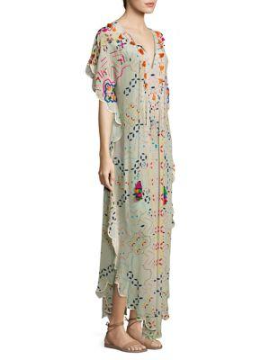 Sindhi Crepe Silk Caftan