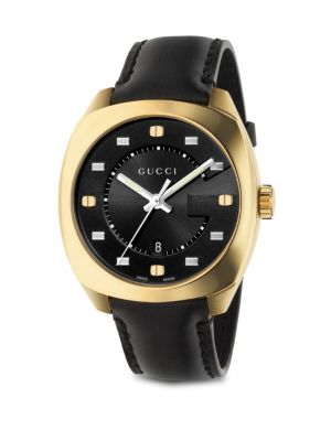gucci g motif goldplated stainless steel watch