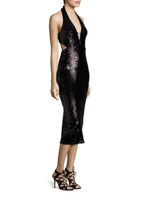 Halter Sequined Dress