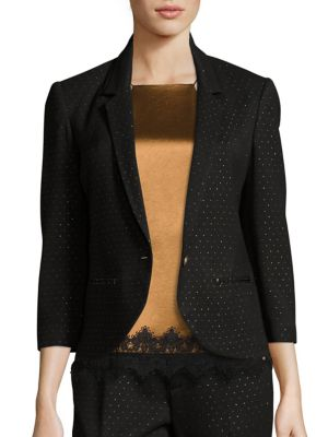 Geometric Dotted Fitted Blazer by ABS
