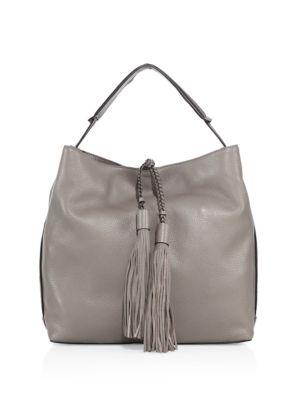 rebecca minkoff female  isobel leather hobo bag