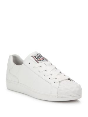 Crack Leather Sneakers