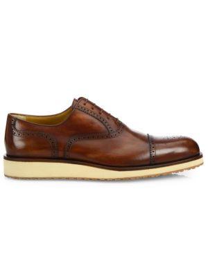 A. TESTONI Brogue Delave   Leather Oxfords