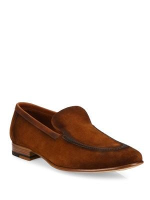 Brandy Burnished Suede Loafers