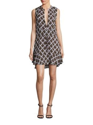 Calder Silk Printed Dress
