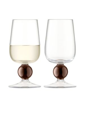 Set of Two Oro White Wine Glasses