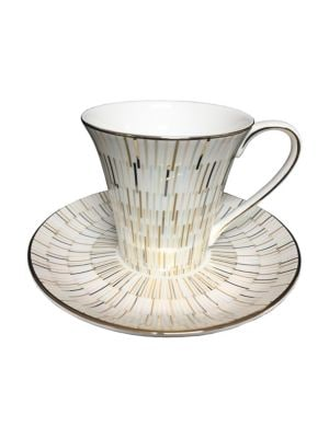 Luminous Bone China Tea Cup & Saucer