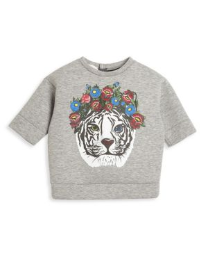 gucci baby babys tigerprint cotton sweatshirt
