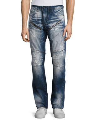 Five Pocket Moto Jeans