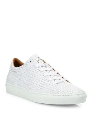 Alaric Striped Embossed Leather Sneakers