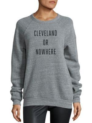 KNOWLITA Cleveland Or Nowhere Graphic Sweatshirt