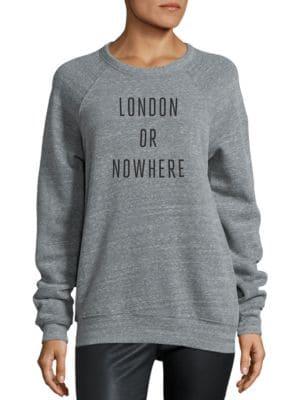 London Or Nowhere Graphic Sweatshirt by Knowlita