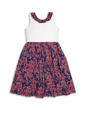 Toddler's, Little Girl's & Girl's Graphic Floral Dress
