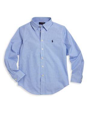 Toddler's, Little Boy's & Boy's Lowell Twill Dress Shirt
