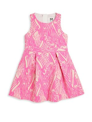 Toddler's, Little Girl's & Girl's Scribble Jacquard Racerback Dress