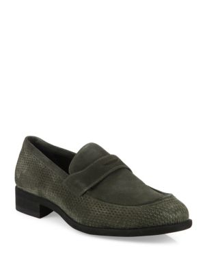 Cacao Net Suede Loafers