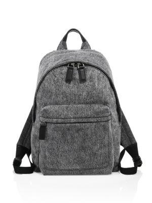 Customizable Denim Biker Backpack