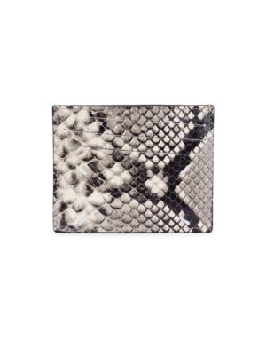 Python Leather Card Case