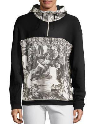 Half Baroque Hooded Sweatshirt