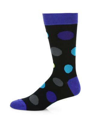 MARCOLIANI Big Bubble Printed Socks in Blue Mix