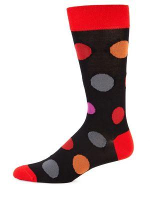 MARCOLIANI Big Bubble Printed Socks in Red