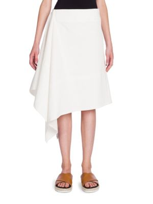 Cotton Asymmetric Skirt