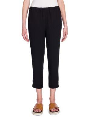 Elasticized Cropped Pants