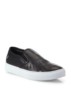 Two-Toned Leather Slip-Ons