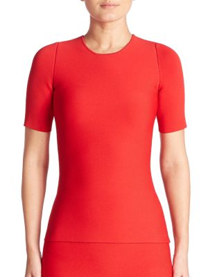 alexander wang female short sleeve laceup pullover