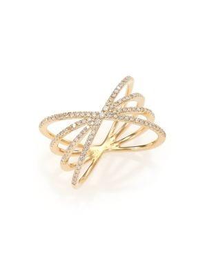 Diamond & 14K Yellow Gold Sunburst Ring