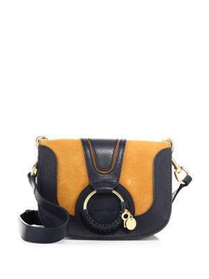 Hana Small Leather & Suede Crossbody Bag