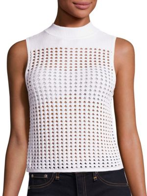 Ingrid Mockneck Open Knit Top by Rag & Bone