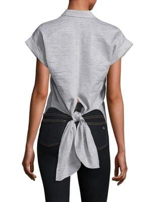 Ara Textured Tie-Back Blouse by Rag & Bone