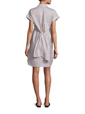 Ara Textured Tie-Back Shirtdress