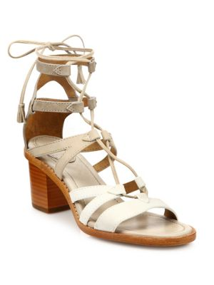 Brielle Colorblock Suede Gladiator Sandals