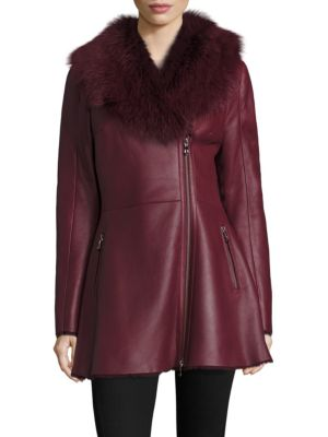 Toscana Shearling & Leather Coat