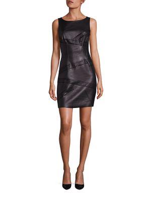 Waterfall Faux Leather Dress