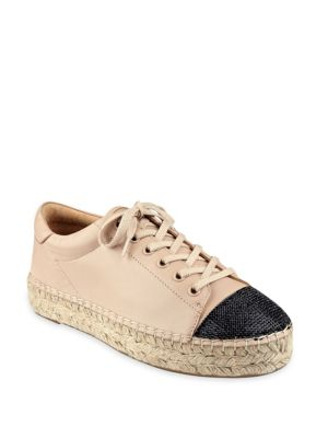 Joslyn Leather Cap Toe Espadrille Sneakers