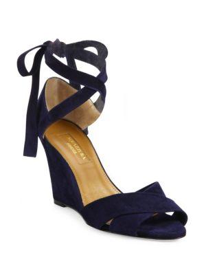 Tarzan Crisscross Suede Wedge Sandals