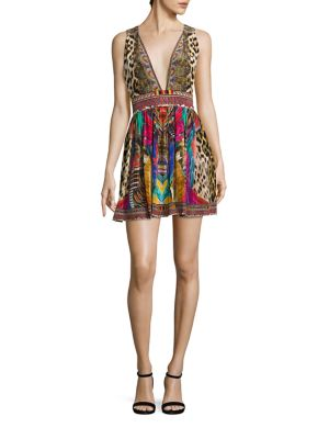 camilla female kingcall silk short dress