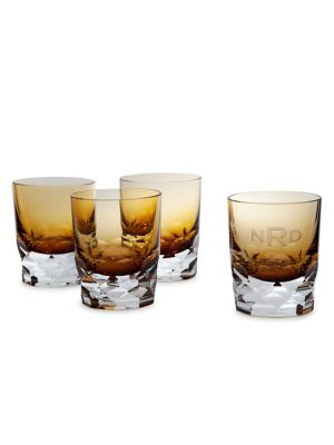 Personalized Vienna Double Old Fashioned Glasses Gift Box/Set of 2