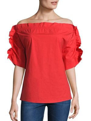 Ruffle Off-The-Shoulder Top by MSGM