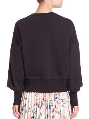 MSGM Lace-Up Detail Sweatshirt