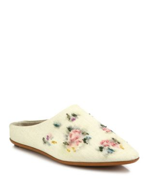 Bea Embroidered Raffia Mules
