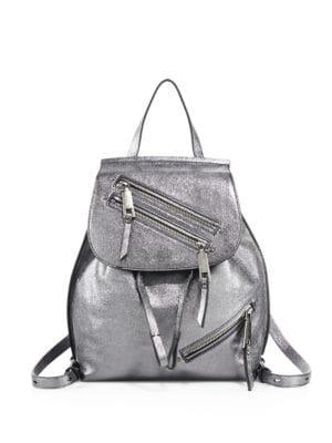 marc jacobs female metallic lamb leather backpack
